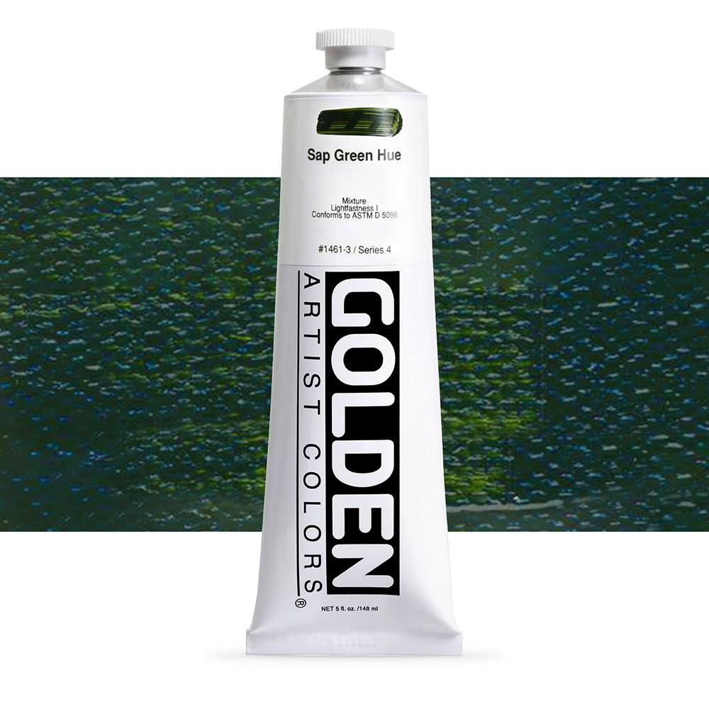 Golden : Heavy Body Acrylic Paint : 150ml : Sap Green Hue