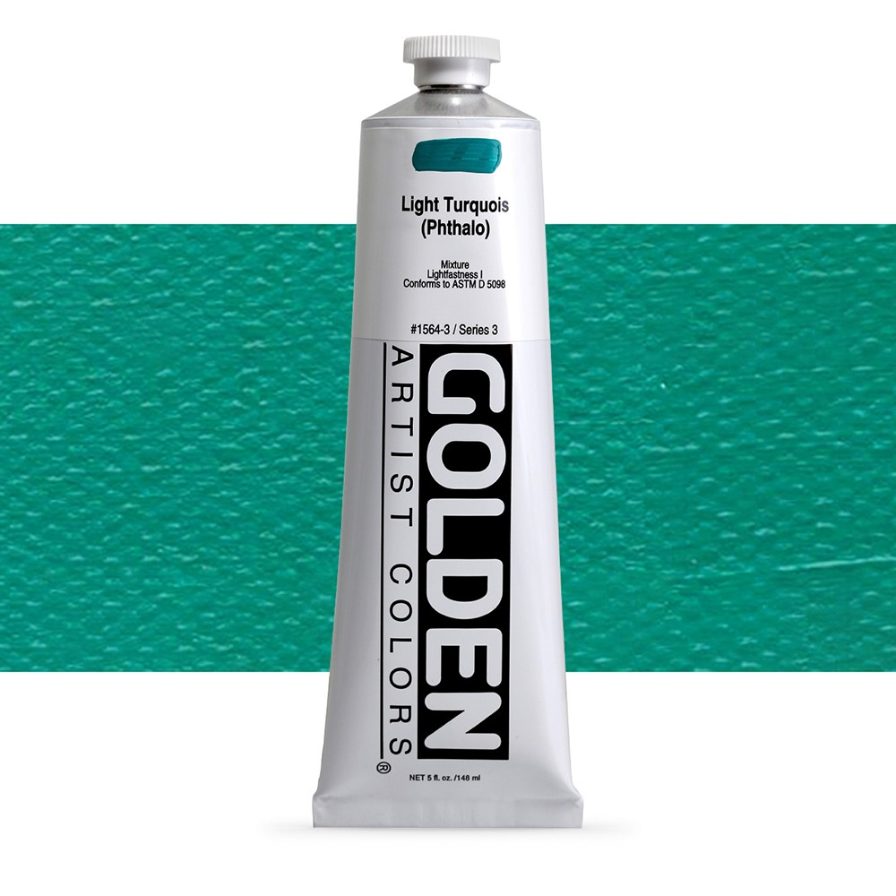 Golden : Heavy Body Acrylic Paint : 150ml : Light Turquoise Phthalo