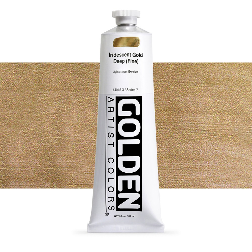 Golden : Heavy Body Acrylic Paint : 150ml : Gold Deep Fine Iridescent