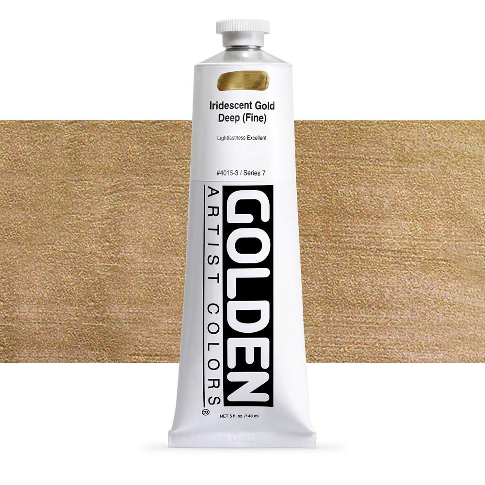 Golden : Heavy Body Acrylic Paint : 150ml : Gold Deep Fine Iridescent