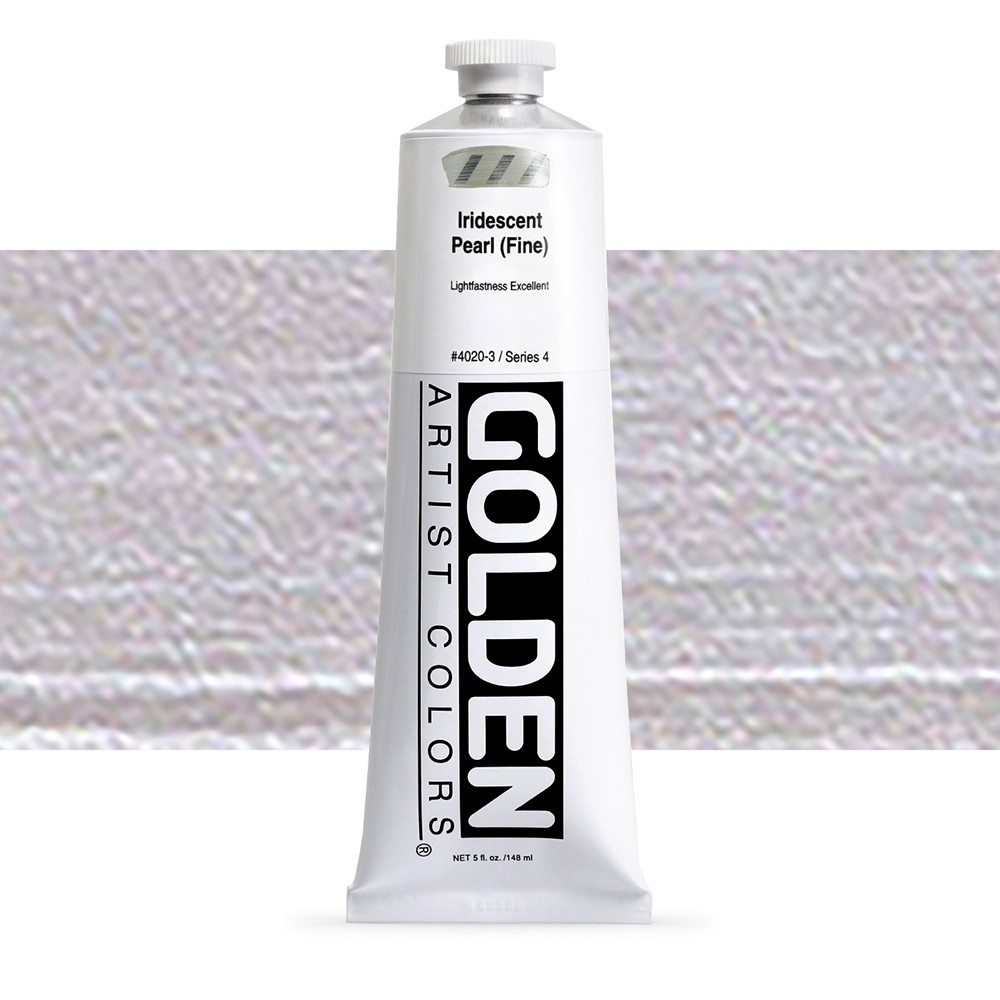 Golden : Heavy Body Acrylic Paint : 150ml : Pearl Fine Iridescent