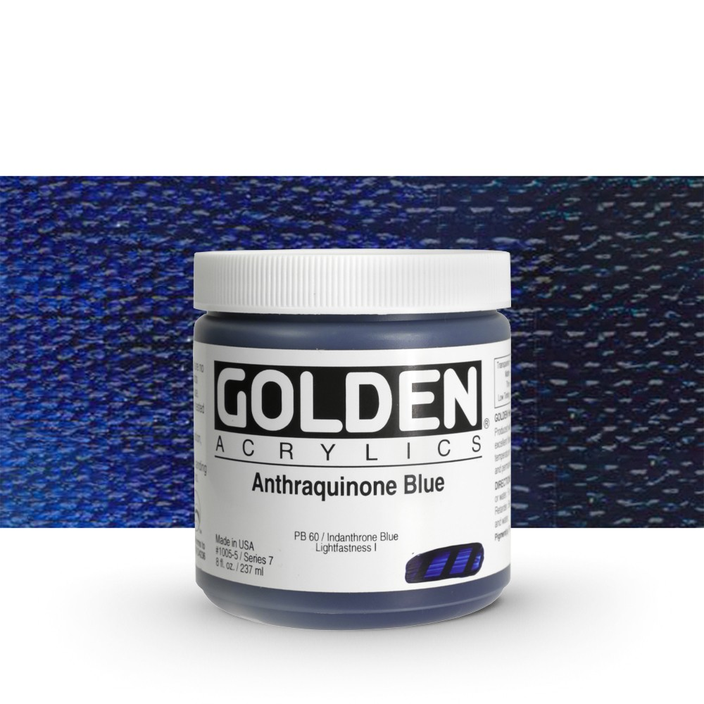 Golden : Heavy Body Acrylic Paint : 236ml : Anthraquinone Blue