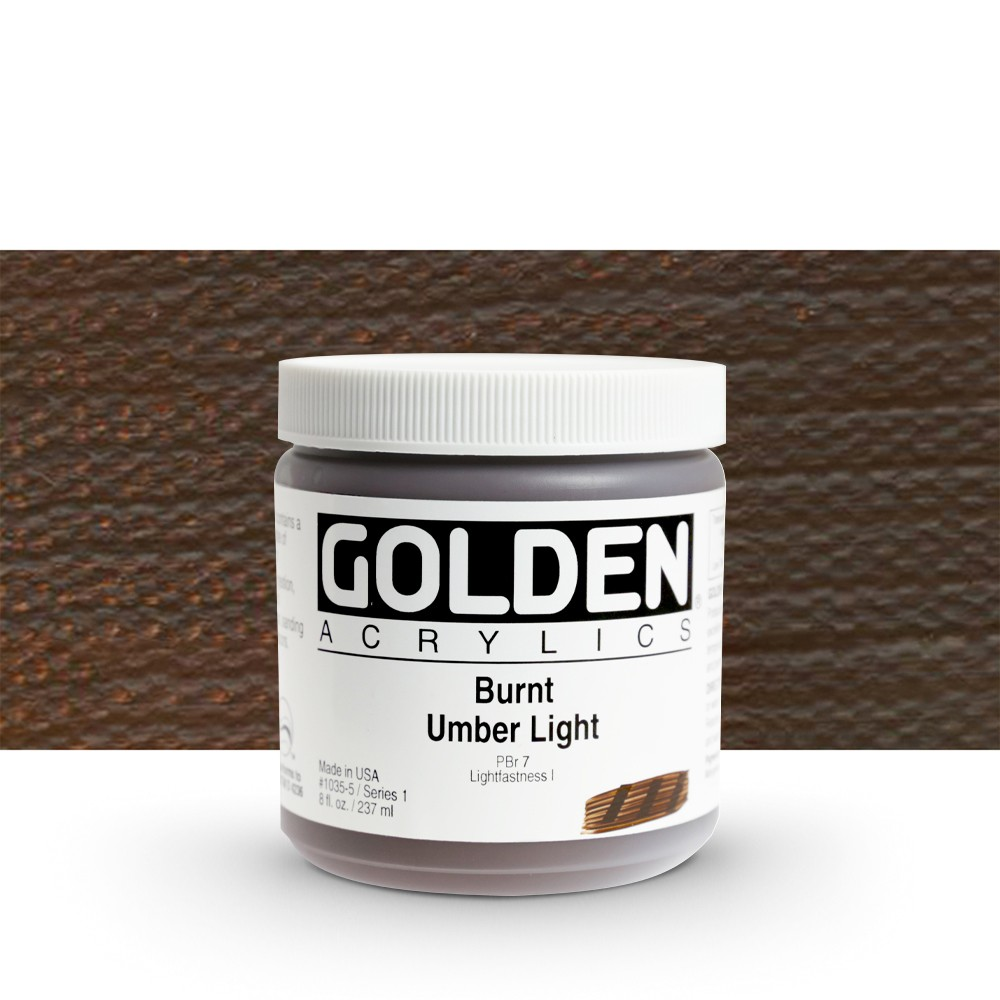 Golden : Heavy Body Acrylic Paint : 236ml : Burnt Umber Light