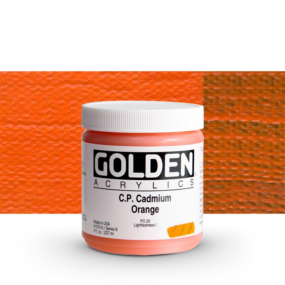 Golden : Heavy Body Acrylic Paint : 236ml : Pure Cadmium Orange