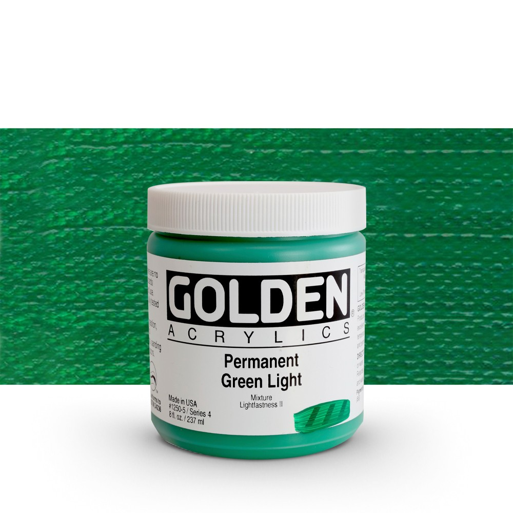 Golden : Heavy Body Acrylic Paint : 236ml : Perm Green Light
