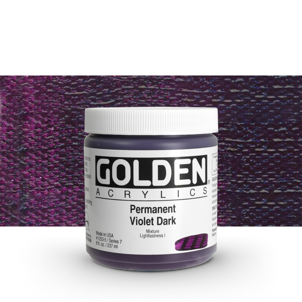 Golden : Heavy Body Acrylic Paint : 236ml : Permanent Violet Dark