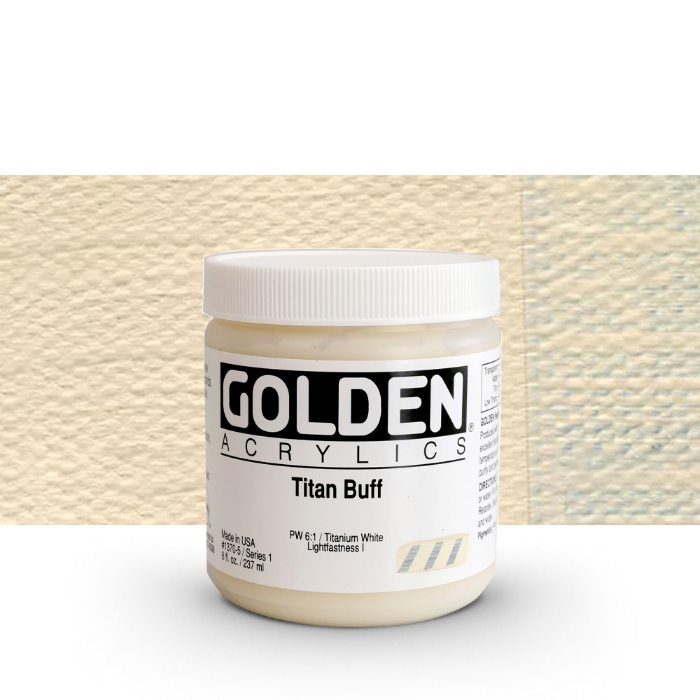 Golden : Heavy Body Acrylic Paint : 236ml : Titan Buff