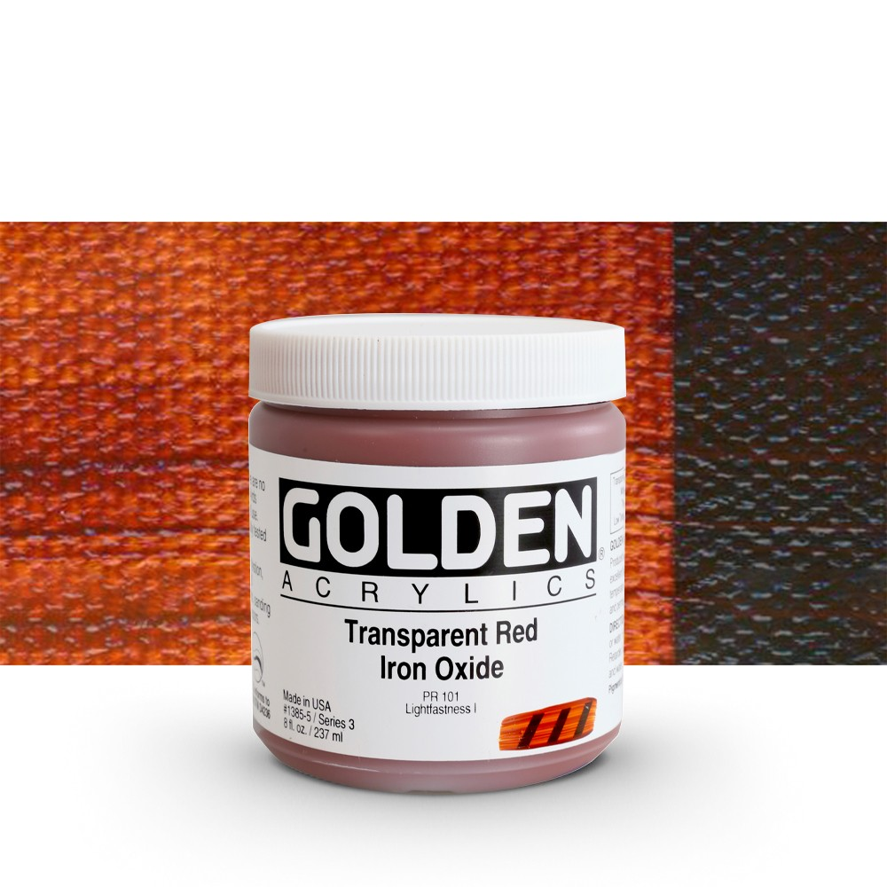 Golden : Heavy Body Acrylic Paint : 236ml : Transparent Red Iron Oxide