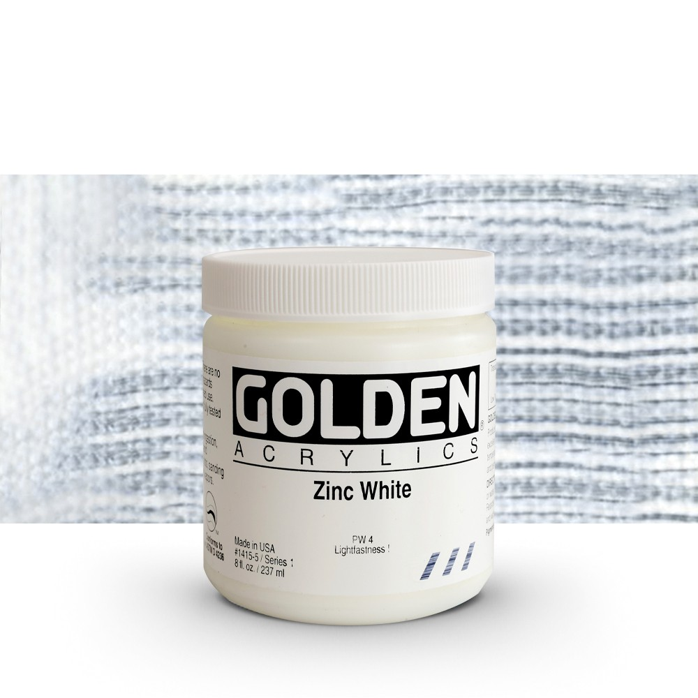 Golden : Heavy Body Acrylic Paint : 236ml : Zinc White