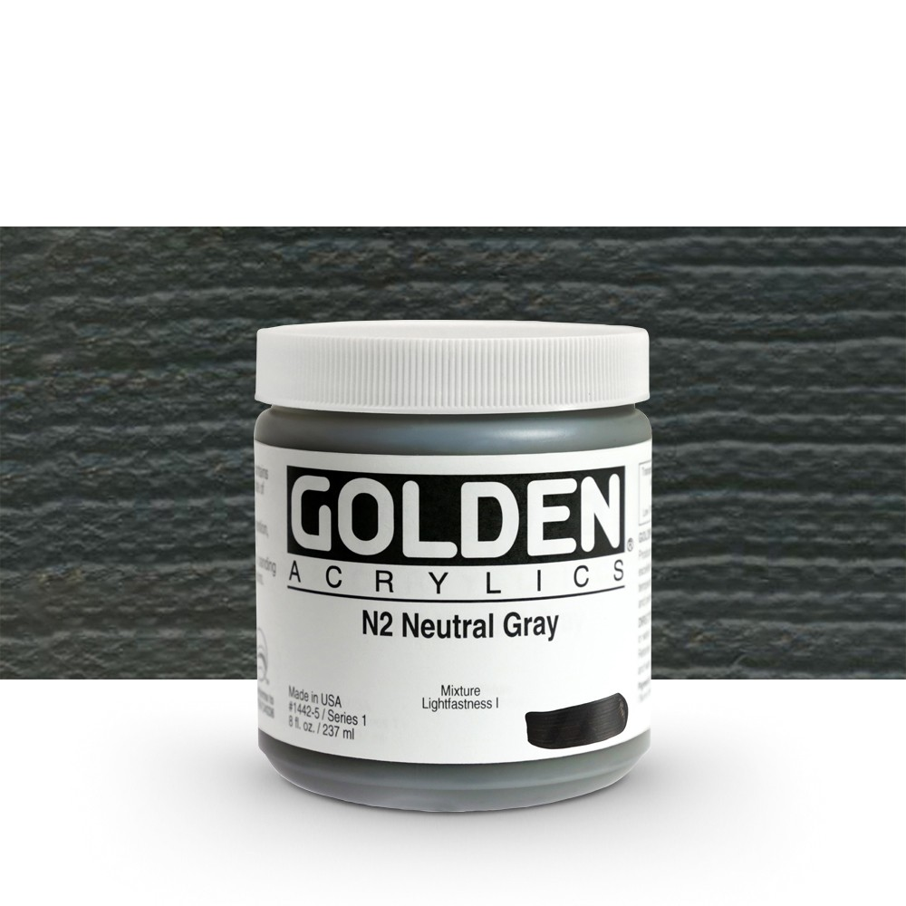 Golden : Heavy Body Acrylic Paint : 236ml : Neutral Grey No.2