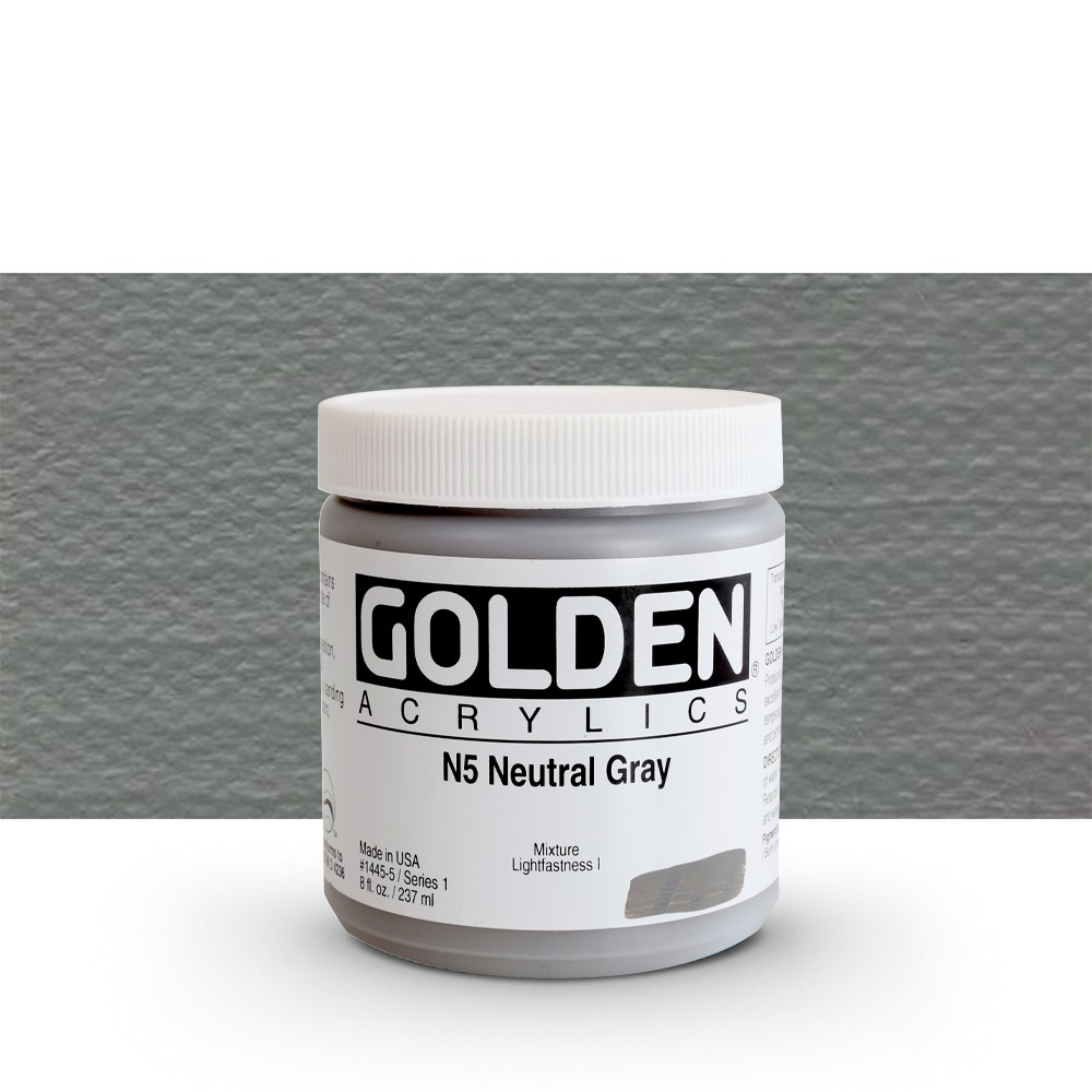Golden : Heavy Body Acrylic Paint : 236ml : Neutral Grey No.5