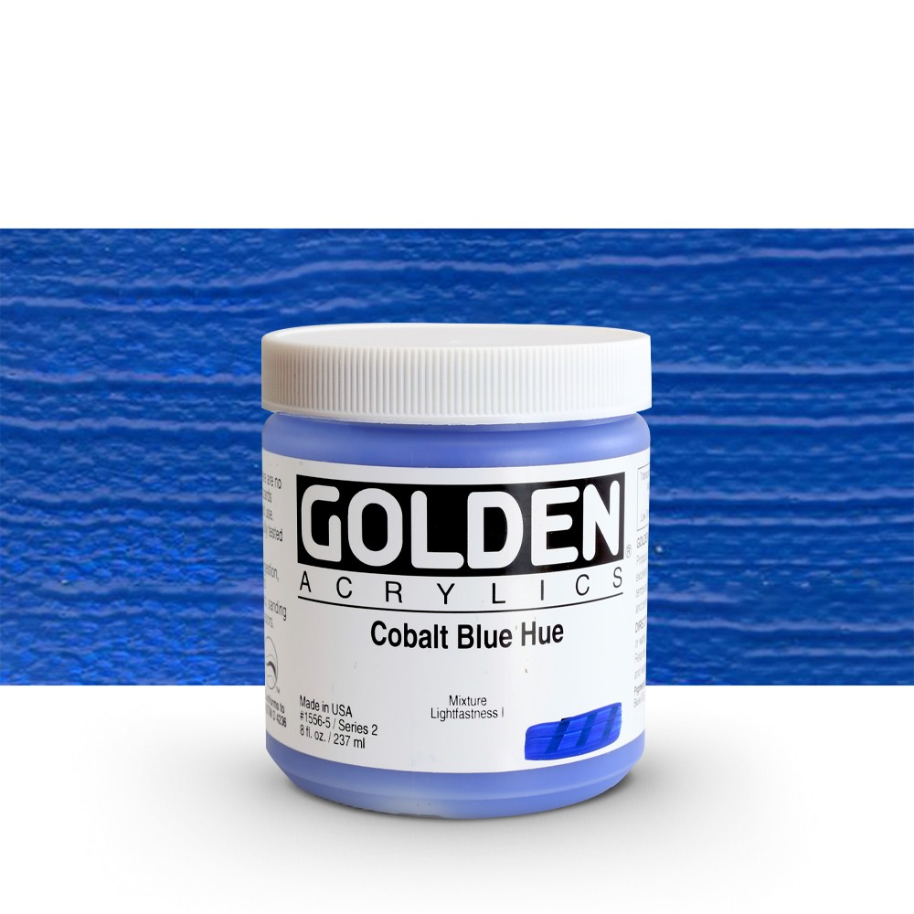 Golden : Heavy Body Acrylic Paint : 236ml : Cobalt Blue Hue
