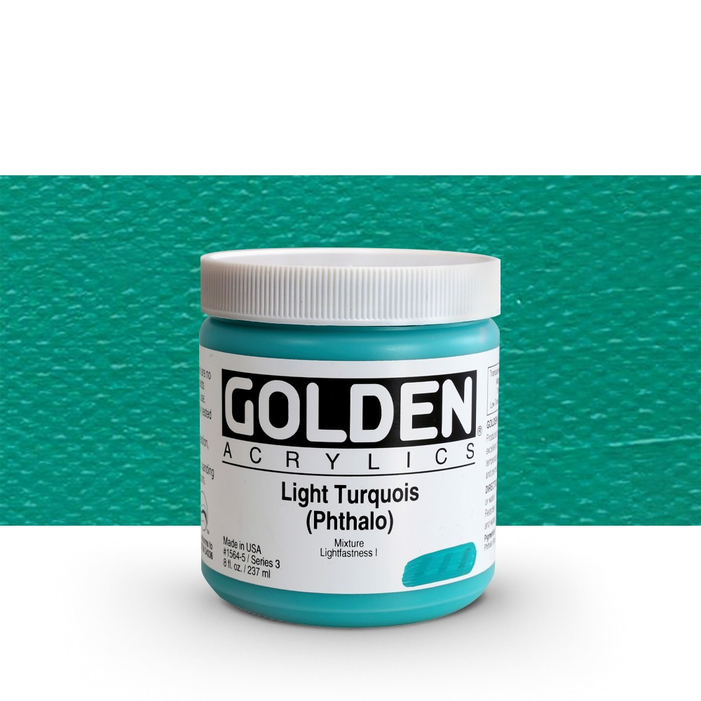 Golden : Heavy Body Acrylic Paint : 236ml : Light Turquoise Phthalo