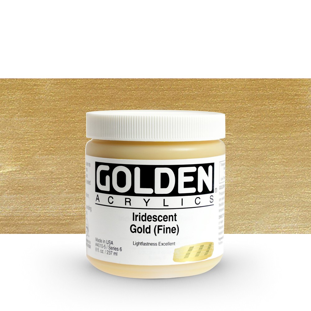 Golden : Heavy Body Acrylic Paint : 236ml : Gold Fine Iridescent