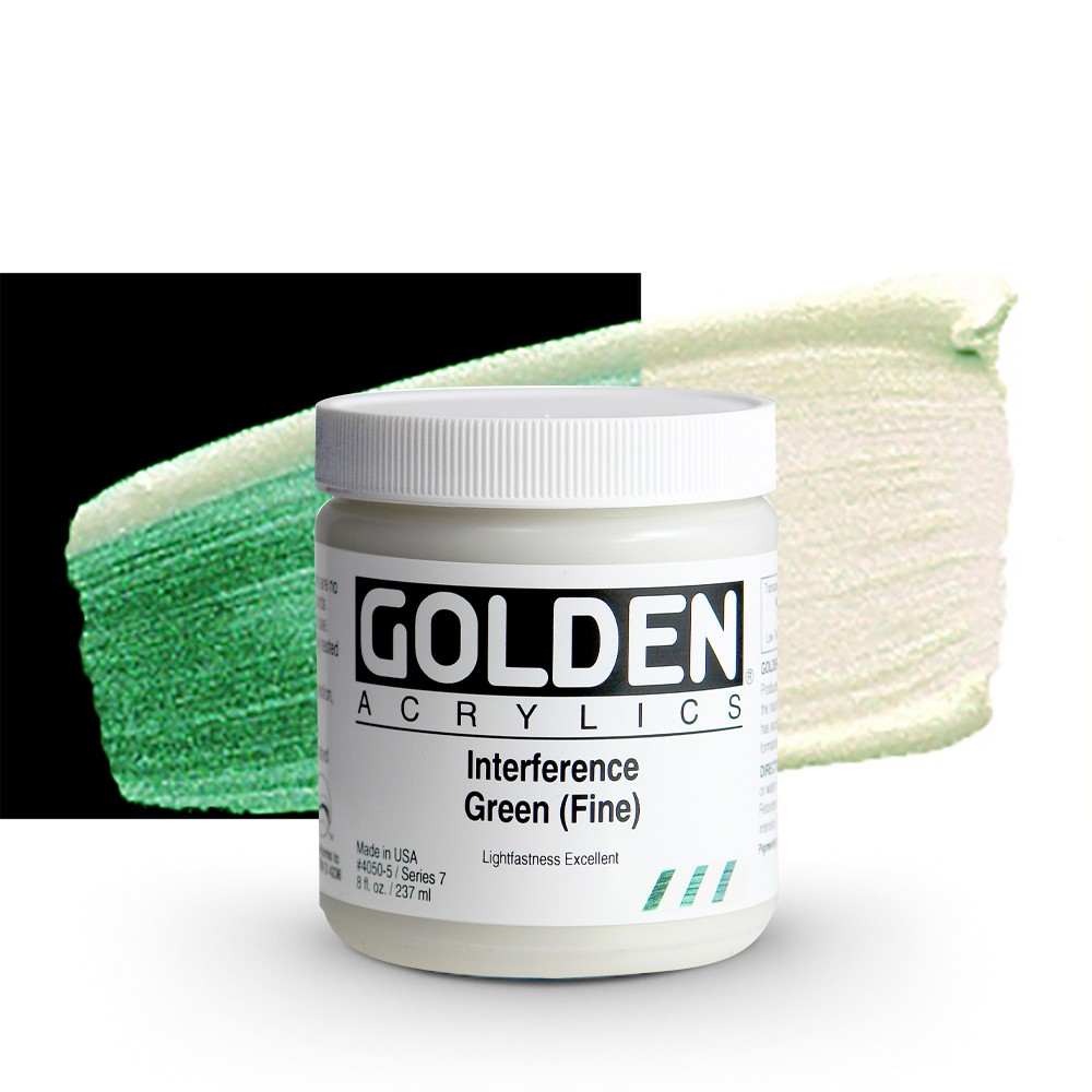 Golden : Heavy Body Acrylic Paint : 236ml : Green Fine Interference