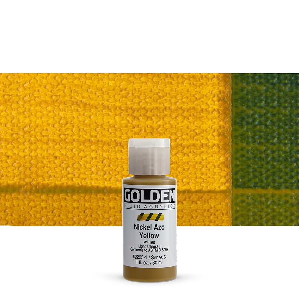 Golden : Fluid : Acrylic Paint : 30ml (1oz) : Nickel Azo Yellow