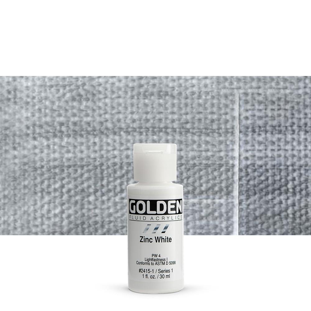 Golden : Fluid : Acrylic Paint : 30ml (1oz) : Zinc White