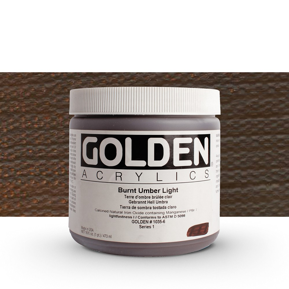 Golden : Heavy Body Acrylic Paint : 473ml : Burnt Umber Light