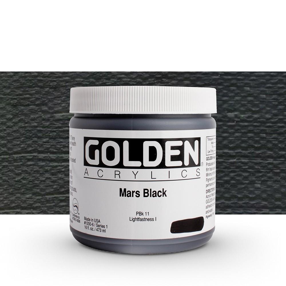 Golden : Heavy Body Acrylic Paint : 473ml : Mars Black