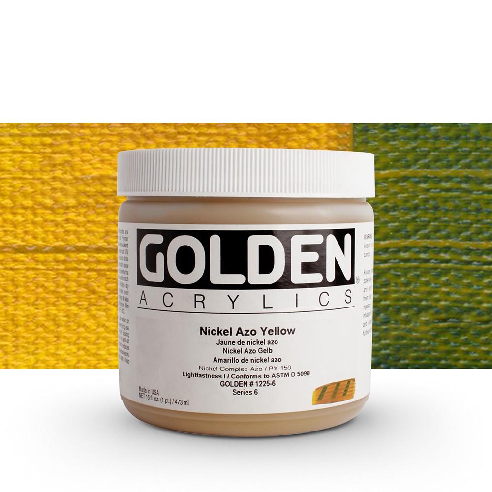 Golden : Heavy Body Acrylic Paint : 473ml : Nickel Azo Yellow