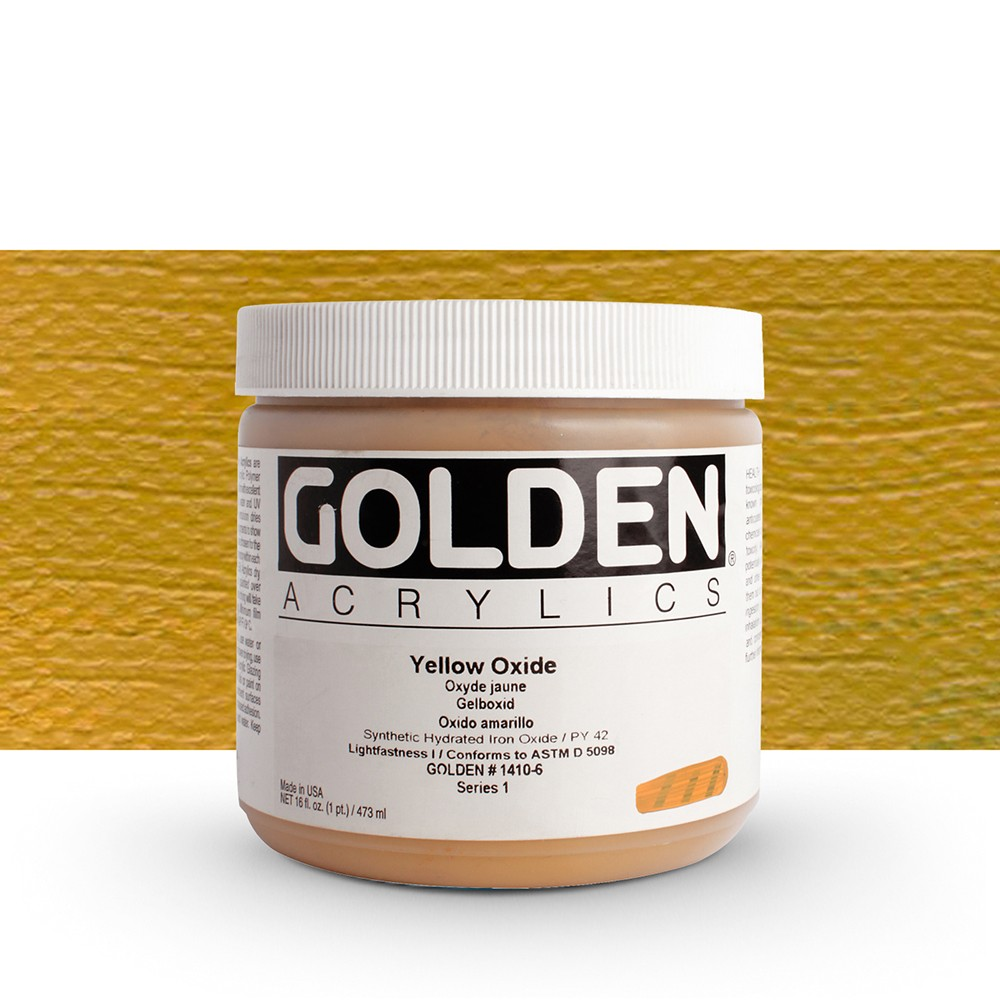 Golden : Heavy Body Acrylic Paint : 473ml : Yellow Oxide