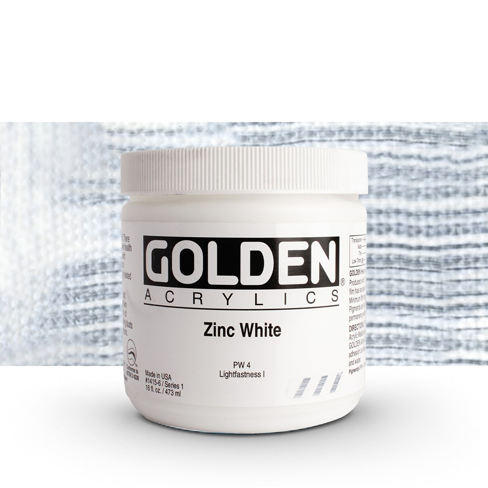Golden : Heavy Body Acrylic Paint : 473ml : Zinc White