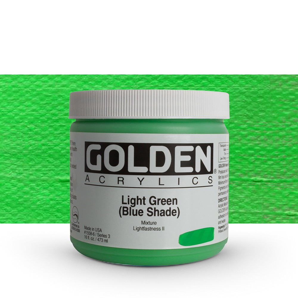 Golden : Heavy Body Acrylic Paint : 473ml : Light Green Blue Shade
