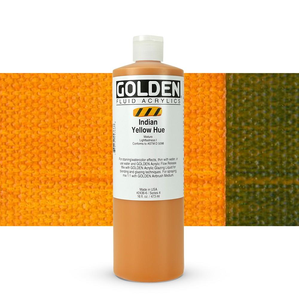Golden : Fluid Acrylic Paint : 473ml (16oz) : Indian Yellow Hue