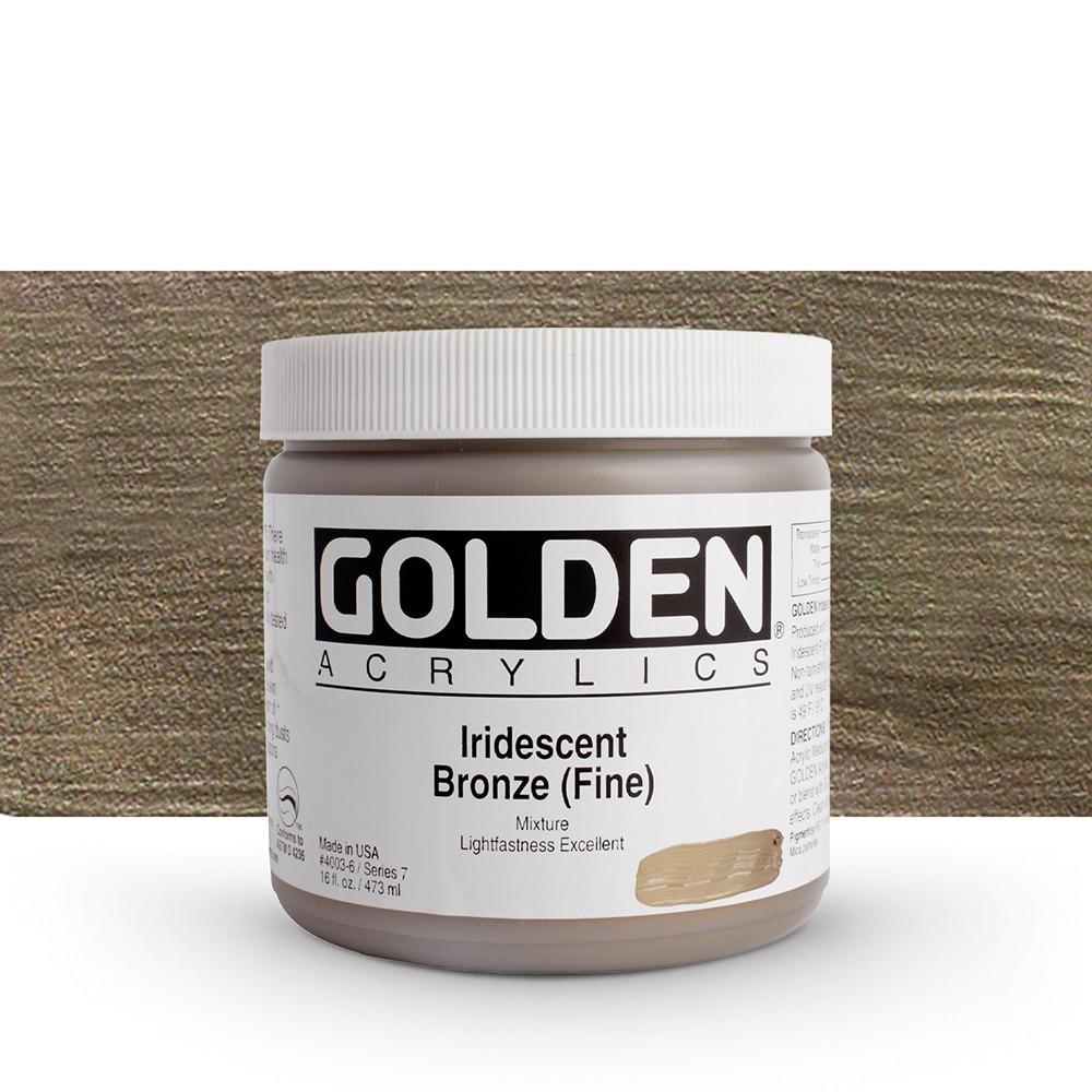 Golden : Heavy Body Acrylic Paint : 473ml : Bronze Fine Iridescent