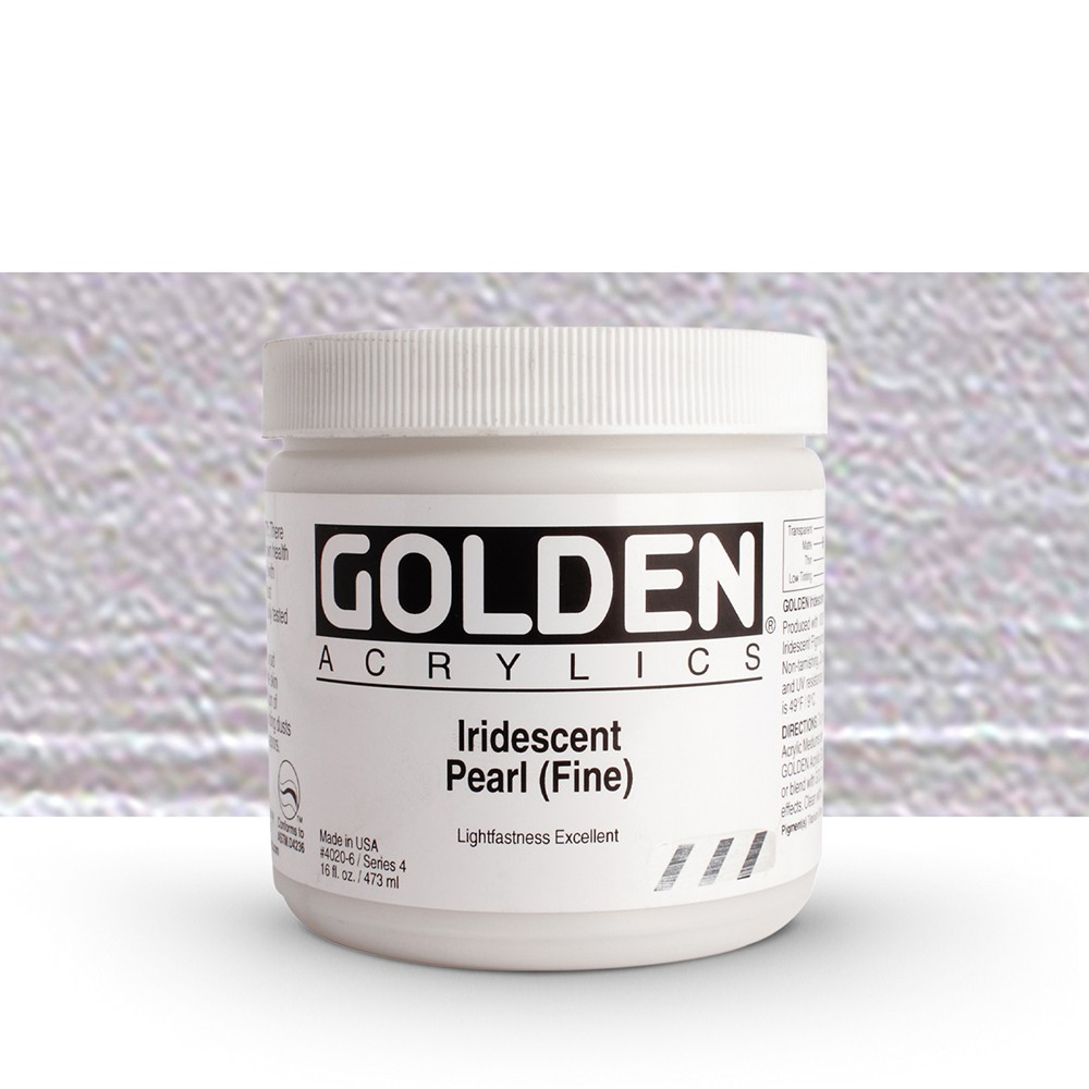 Golden : Heavy Body Acrylic Paint : 473ml : Pearl Fine Iridescent