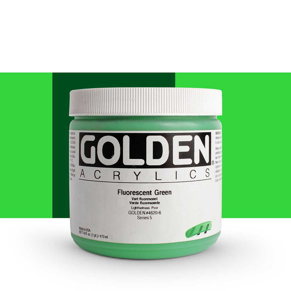 Golden : Heavy Body Acrylic Paint : 473ml : Green *Fluorescent*