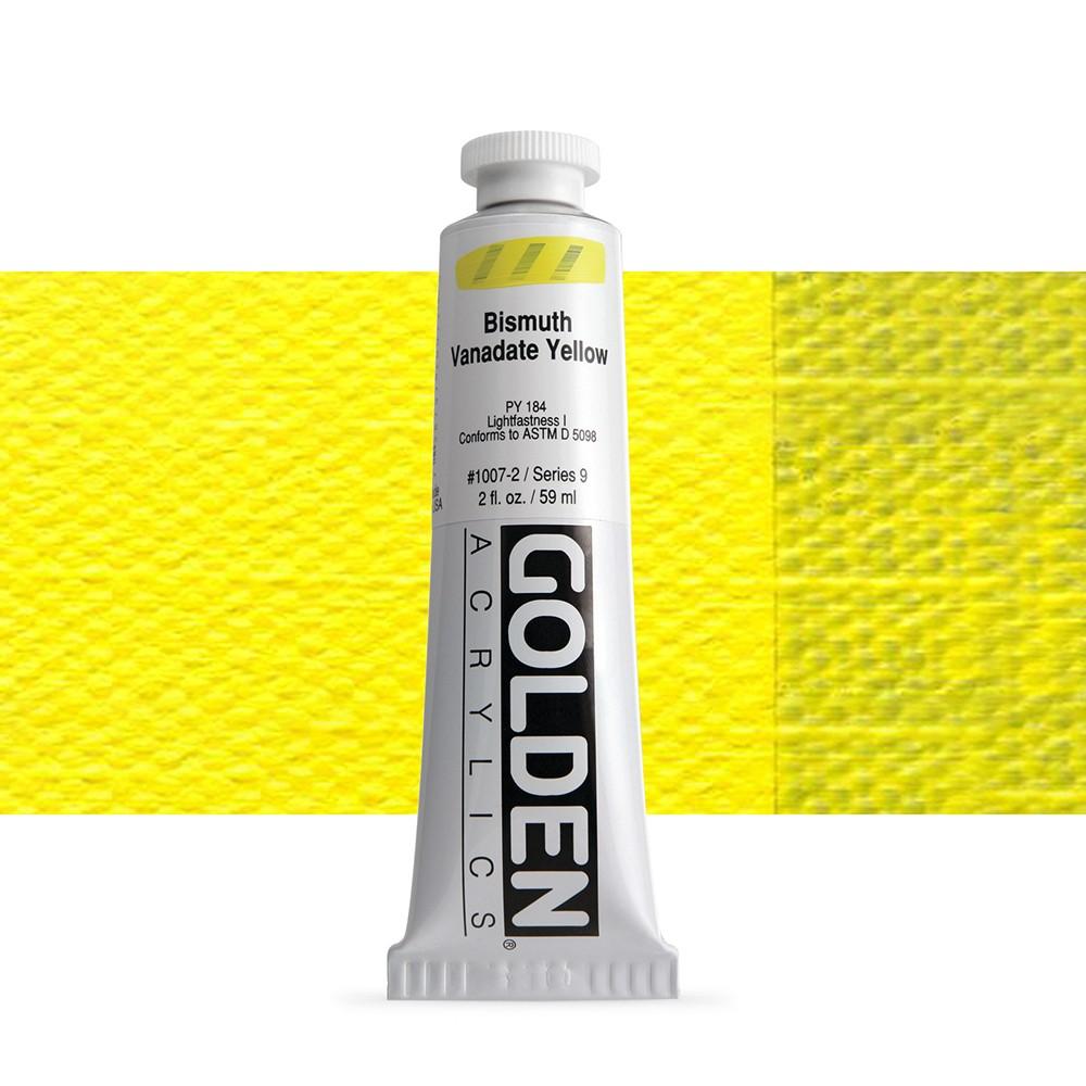 Golden : Heavy Body Acrylic Paint : 60ml : Bismuth Vanadate Yellow Ix New