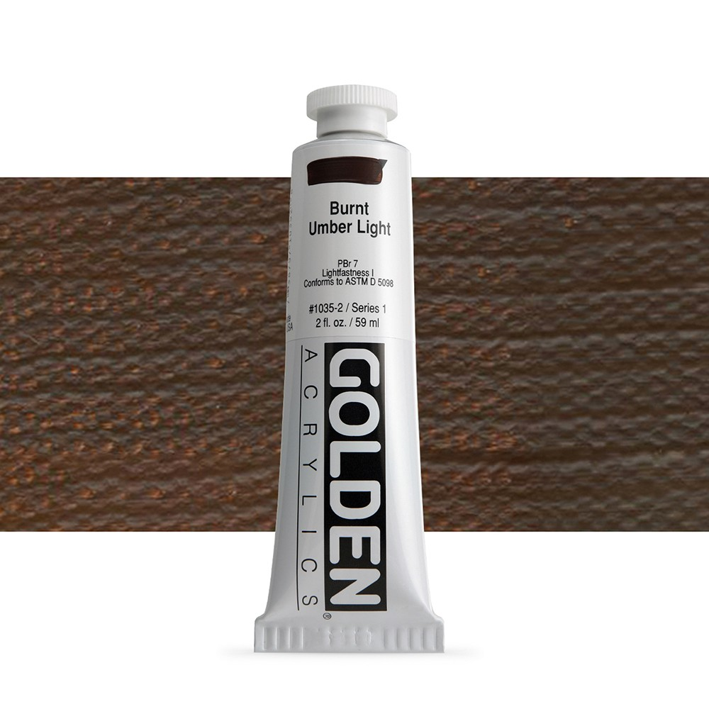 Golden : Heavy Body Acrylic Paint : 60ml : Burnt Umber Light