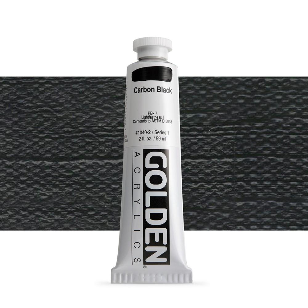 Golden : Heavy Body Acrylic Paint : 60ml : Carbon Black