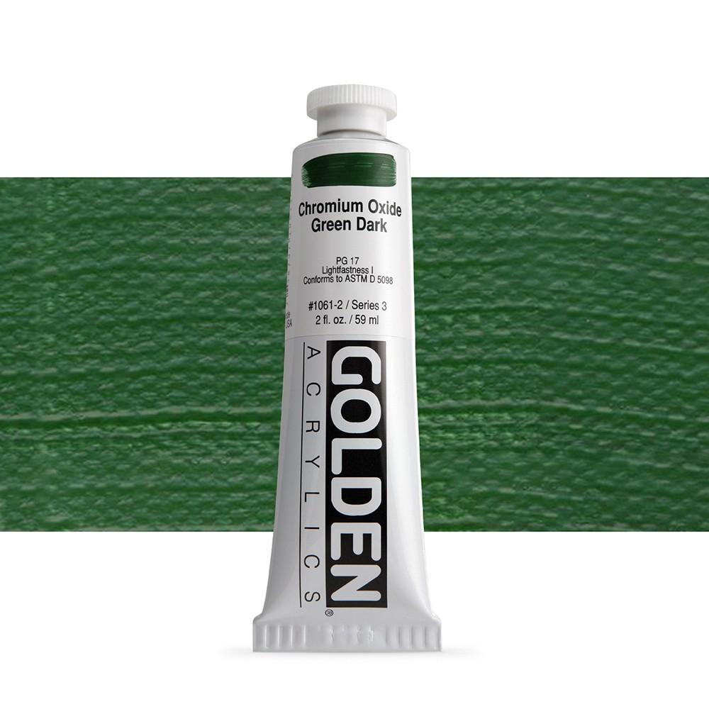 Golden : Heavy Body Acrylic Paint : 60ml : Chromium Oxide Green Dark Iii New