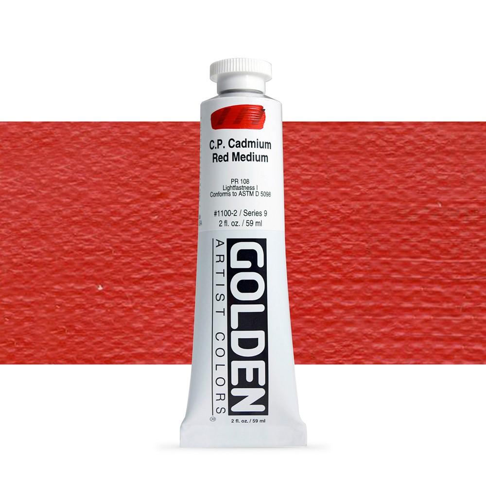 Golden : Heavy Body Acrylic Paint : 60ml : Pure Cadmium Red Medium