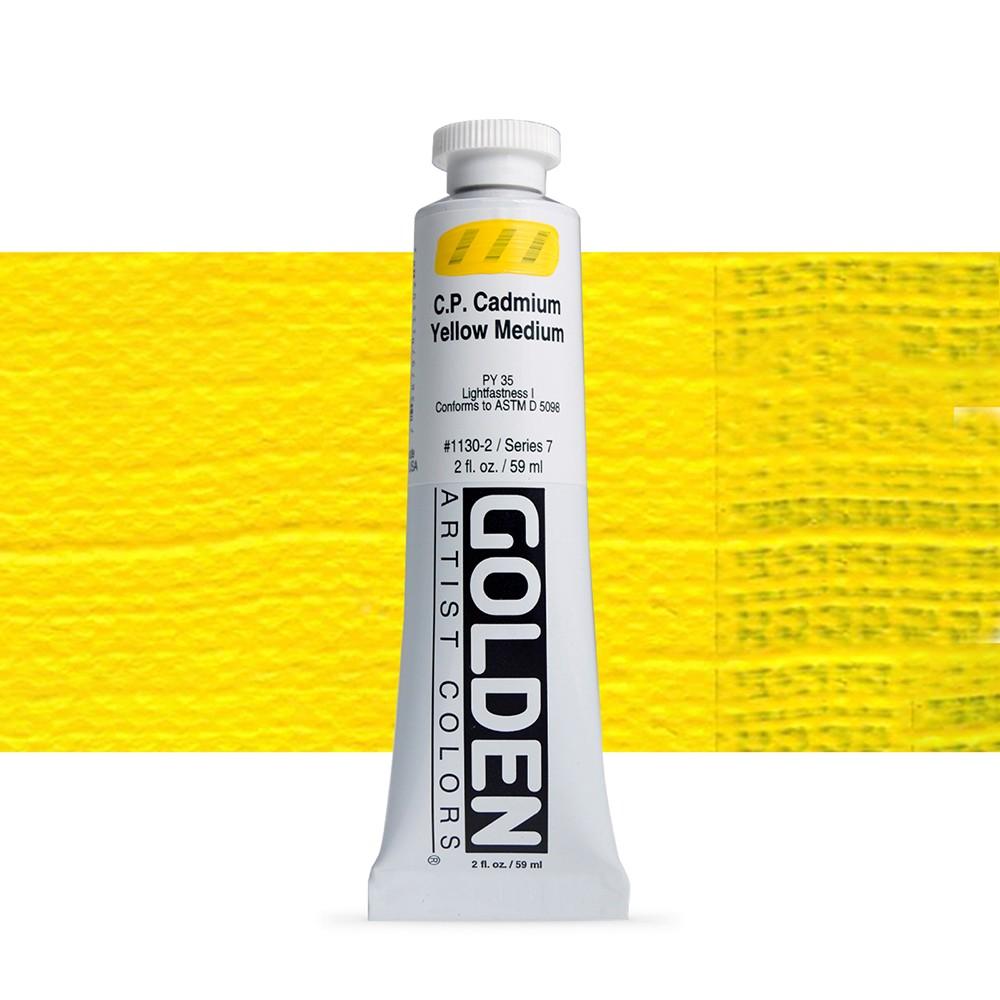 Golden : Heavy Body Acrylic Paint : 60ml : Pure Cadmium Yellow Medium