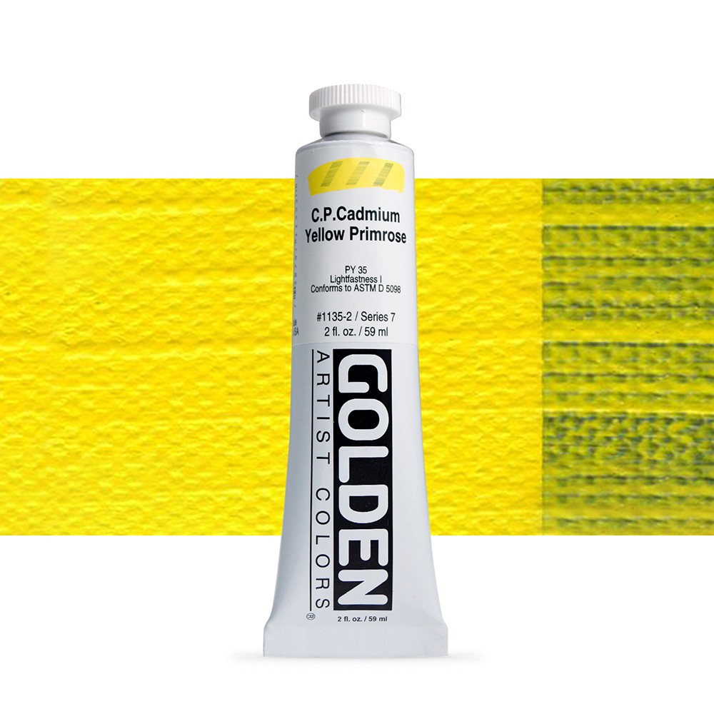 Golden : Heavy Body Acrylic Paint : 60ml : Pure Cadmium Yellow Primrose