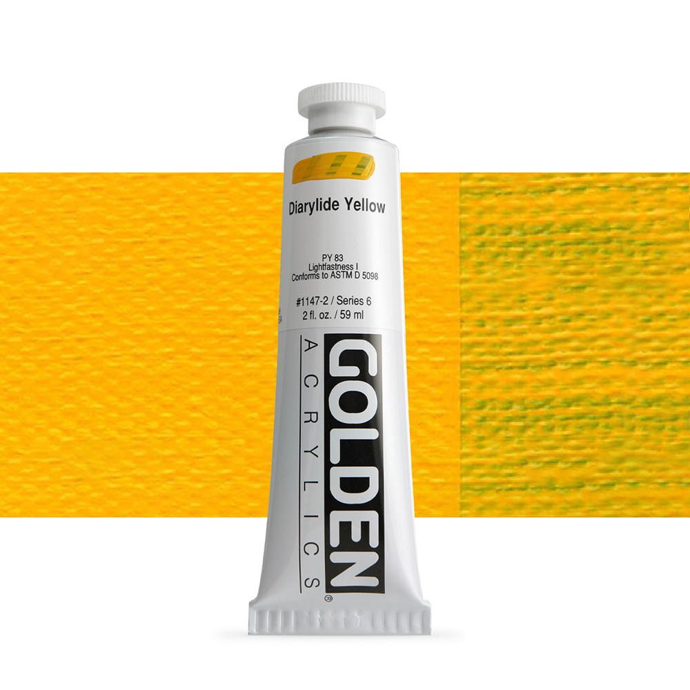 Golden : Heavy Body Acrylic Paint : 60ml : Diarylide Yellow