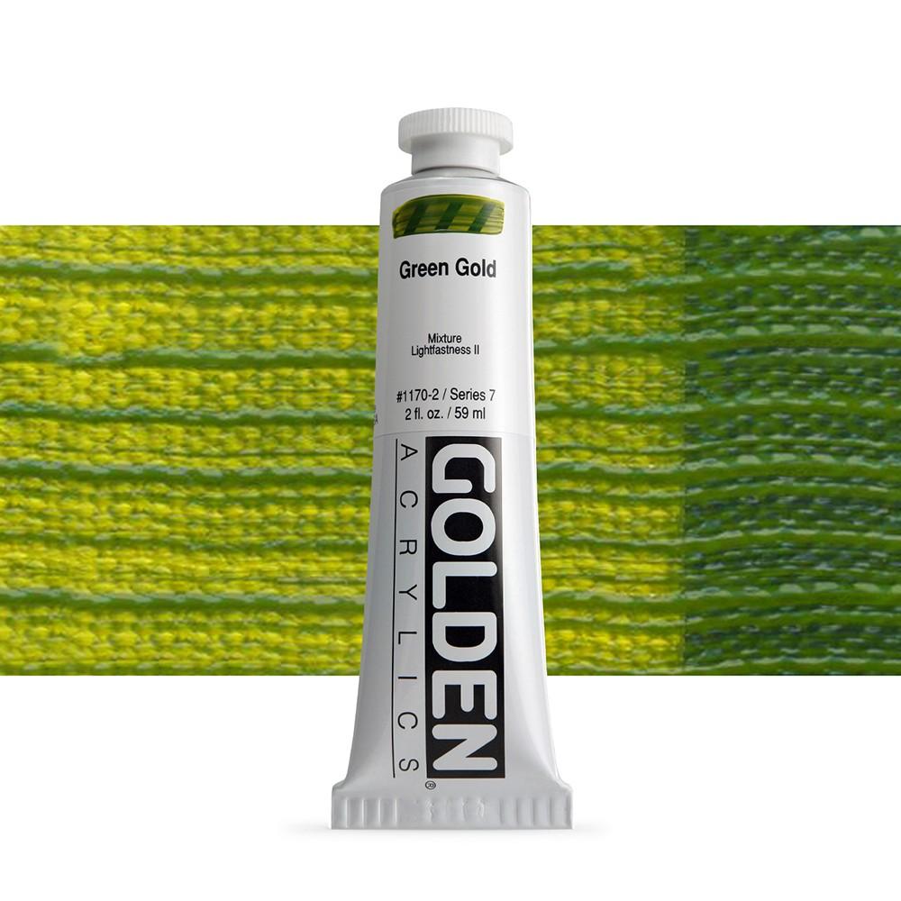 Golden : Heavy Body Acrylic Paint : 60ml : Green Gold