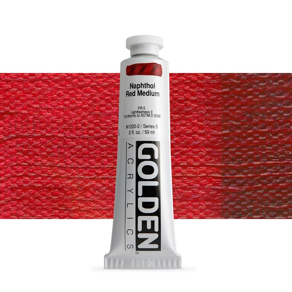 Golden : Heavy Body Acrylic Paint : 60ml : Naphthol Red Medium