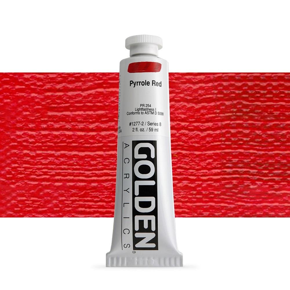 Golden : Heavy Body Acrylic Paint : 60ml : Pyrrole Red