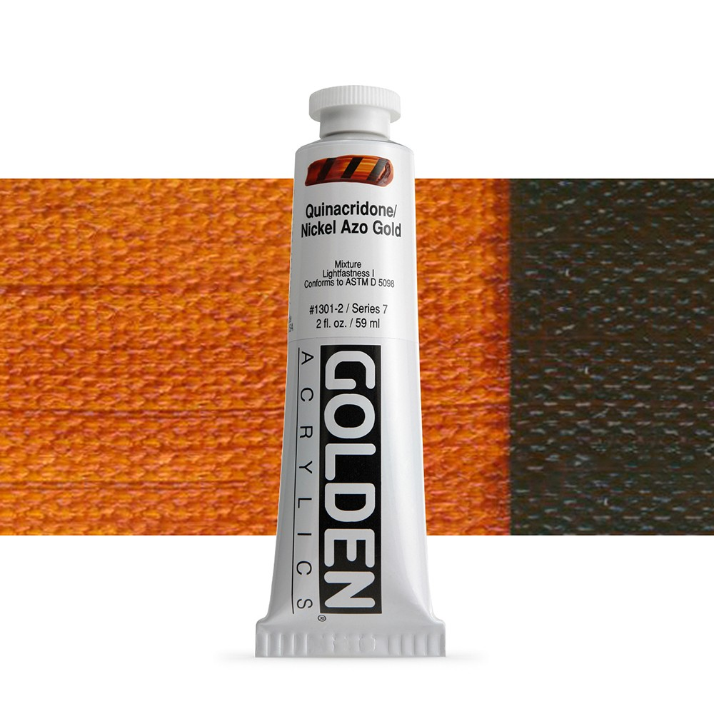 Golden : Heavy Body Acrylic Paint : 60ml : Quinacridone Nickel Azo Gold