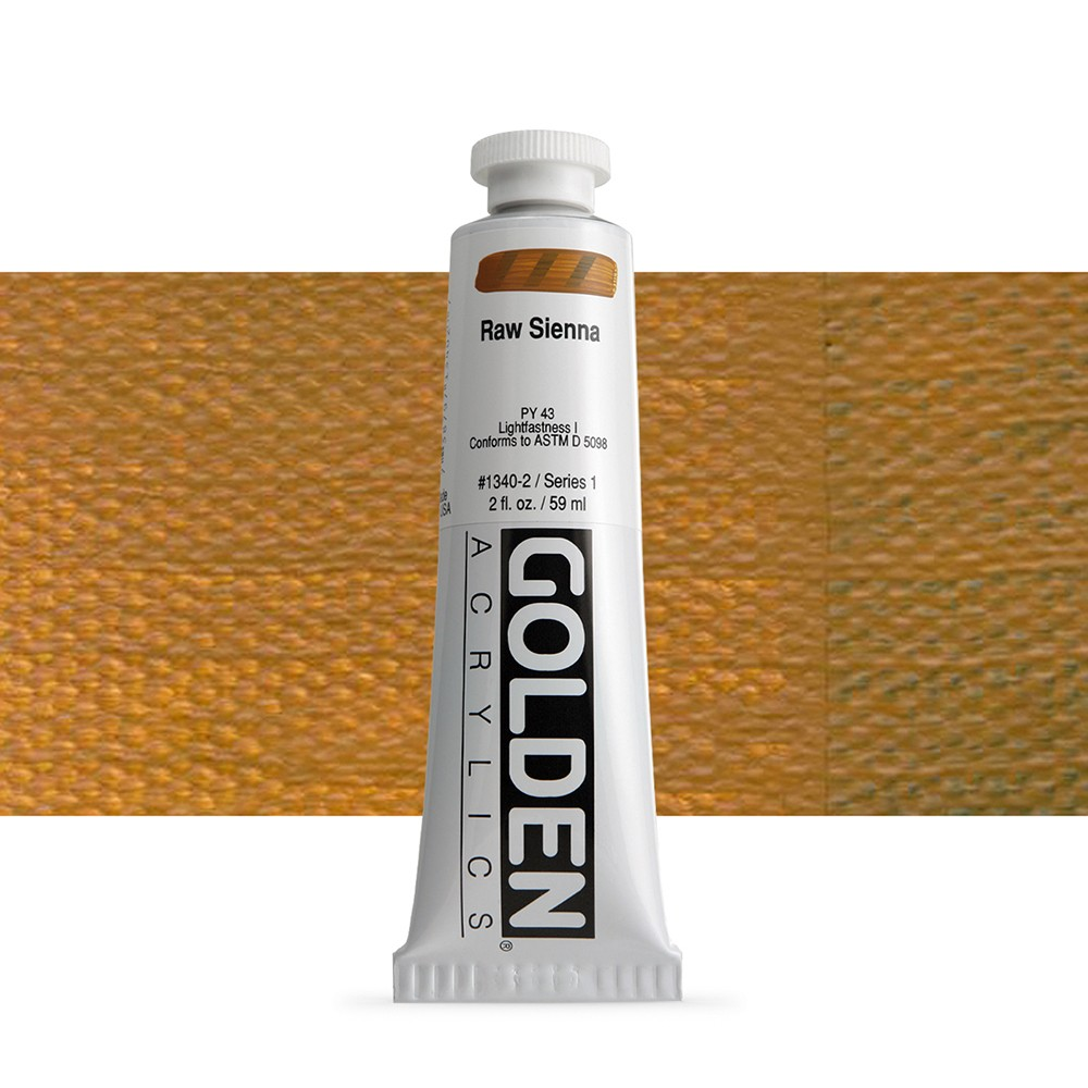 Golden : Heavy Body Acrylic Paint : 60ml : Raw Sienna