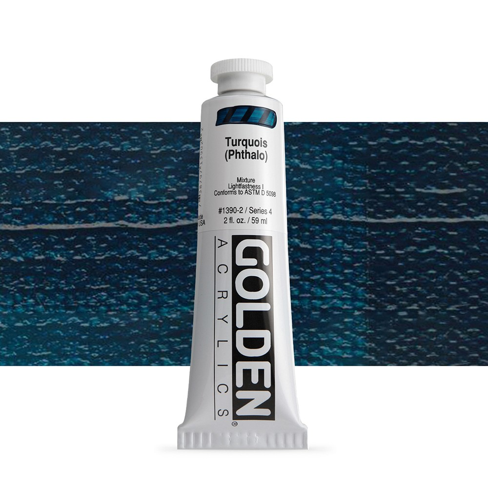Golden : Heavy Body Acrylic Paint : 60ml : Turquoise Phthalo