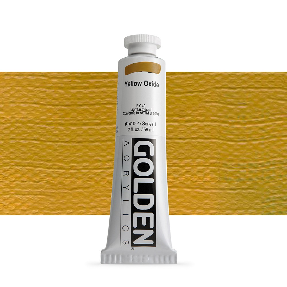 Golden : Heavy Body Acrylic Paint : 60ml : Yellow Oxide