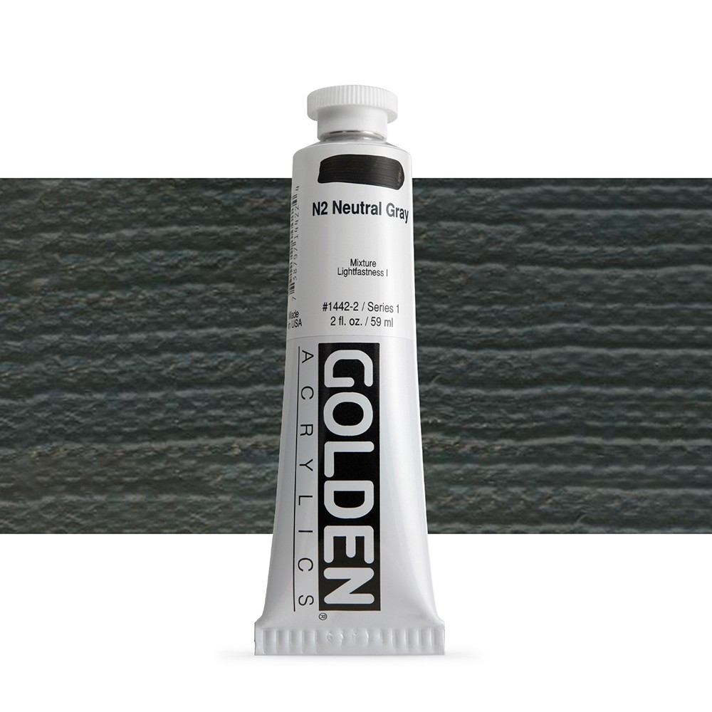 Golden : Heavy Body Acrylic Paint : 60ml : Neutral Grey No.2