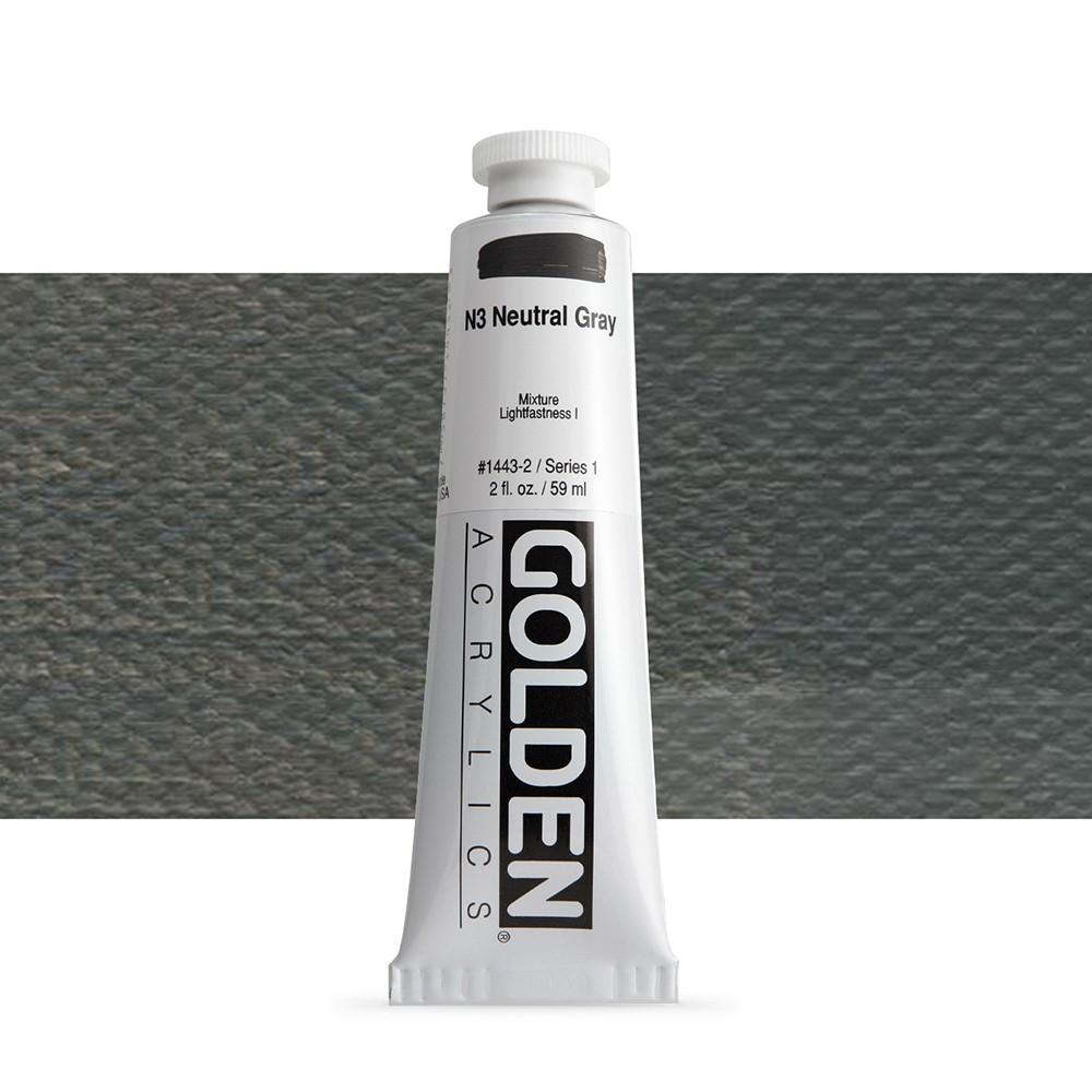 Golden : Heavy Body Acrylic Paint : 60ml : Neutral Grey No.3