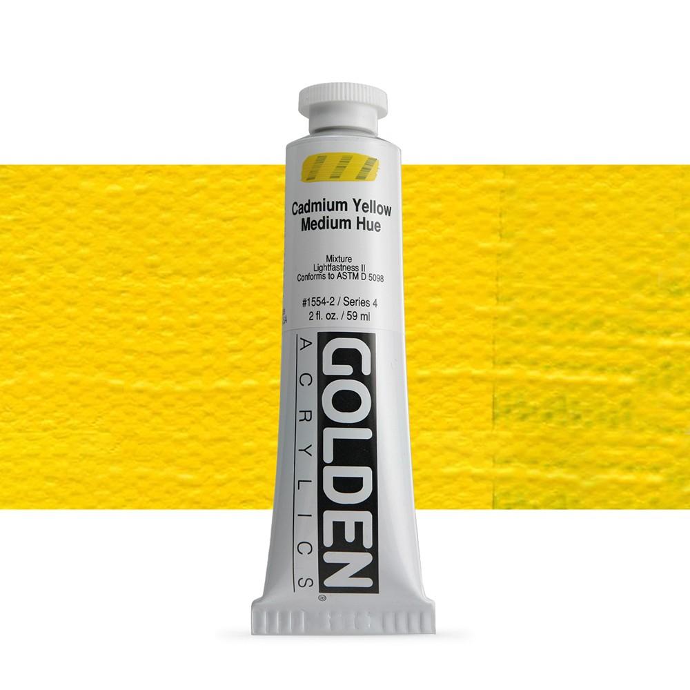 Golden : Heavy Body Acrylic Paint : 60ml : Cadmium Yellow Medium Hue