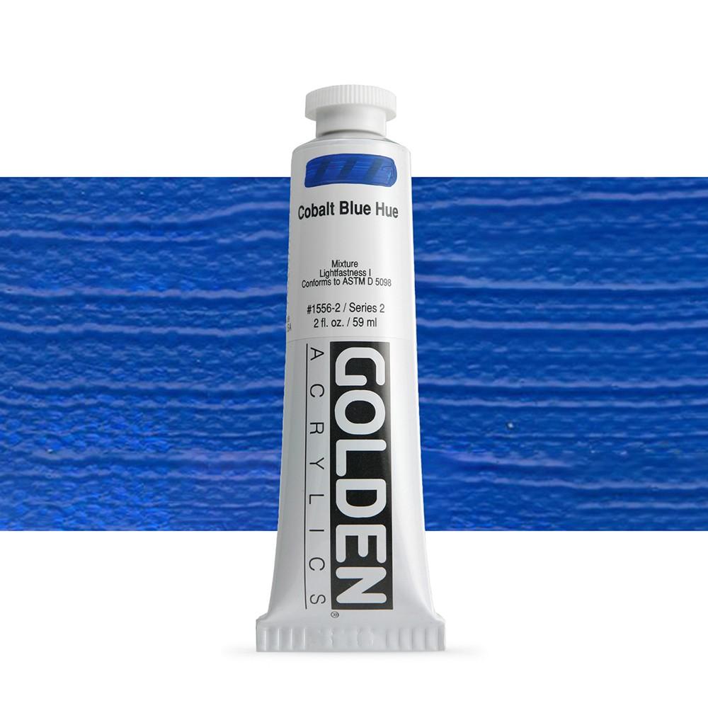Golden : Heavy Body Acrylic Paint : 60ml : Cobalt Blue Hue